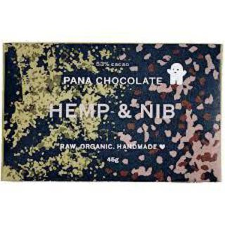 Pana raw chocolate hemp & nib 45g