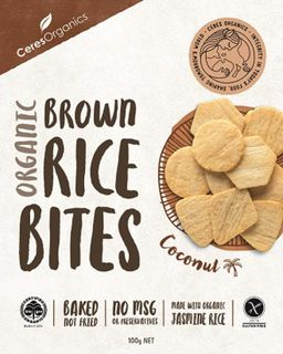 Ceres Brown Rice Bites - Coconut - 100g