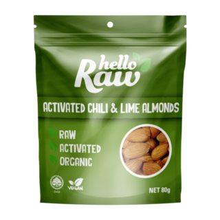 Hello Raw Activated Chili & Lime Almonds - 80g