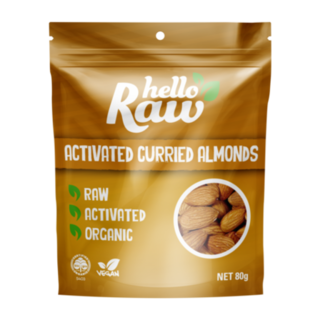 Hello Raw Activated Curried Almonds - 80g