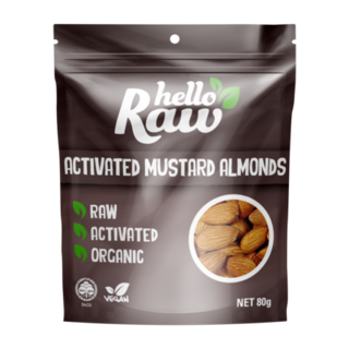 Hello Raw Activated Mustard Almonds - 80g