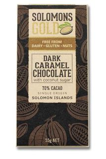 Solomon's Gold Dark Caramel Chocolate 55g