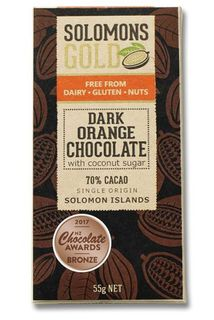 Solomon's Gold Dark Orange Chocolate 55g