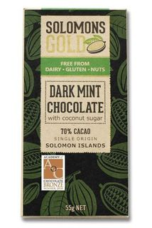 Solomon's Gold Dark Mint Chocolate 55g