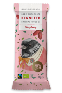 Bennetto Chocolate Mini Raspberry Bar 30g