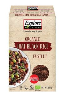 Explore Cuisine Thai Black Rice Fusilli Pasta