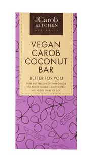 The Carob Kitchen Vegan Carob Coconut Bar 80g