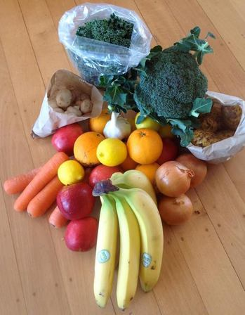 Sign up for weekly small seasonal fruit/vege Box