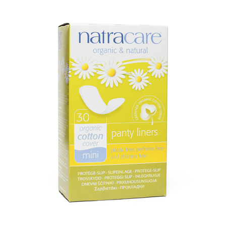 Natracare mini panty liners x30