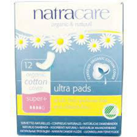 Natracare ultra pads super x 12