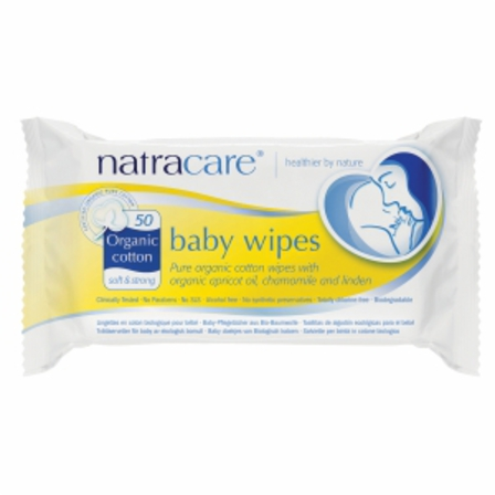 Natracare baby wipes x 50