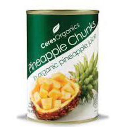 Ceres pineapple chunks 400g