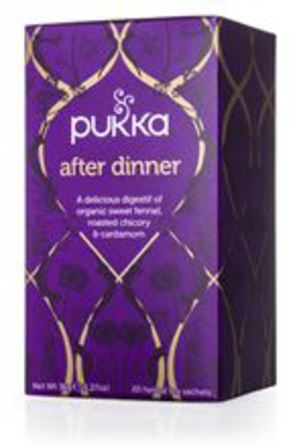 Pukka tea after dinner