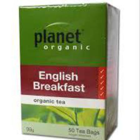 Planet organic english breakfast tea 50 tea bags