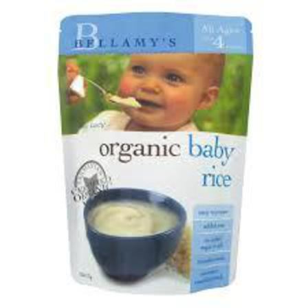 Bellamys baby rice 125g