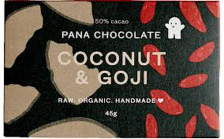 Pana raw chocolate coconut & goji 45g
