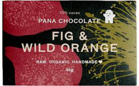 Pana raw chocolate fig & wild orange 45g