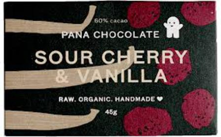 Pana raw chocolate sour cherry & vanilla 45g