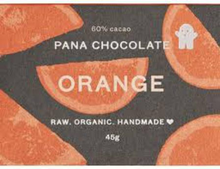 Pana raw chocolate orange 45g