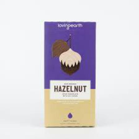 Loving earth hazelnut chocolate 80g