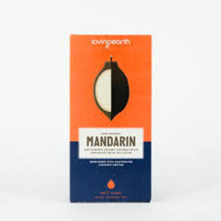 Loving earth mandarin chocolate 80g