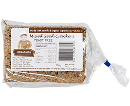 Breadman crackers mixed seed 250g