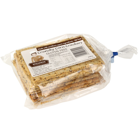 Breadman crackers corn 250g