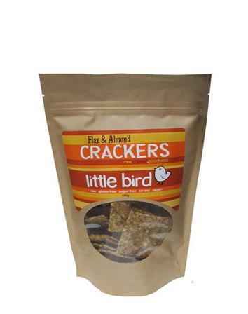 Little bird crackers flax and almond 100g