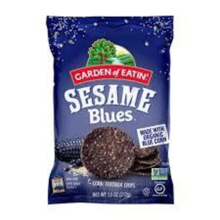 Sesame blues corn chips
