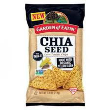 Chia seed corn chips