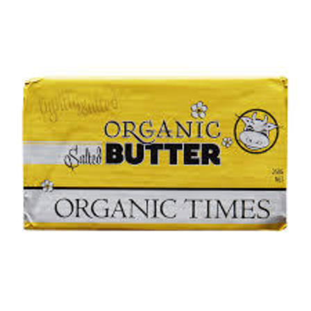 Organic times salted butter 250g
