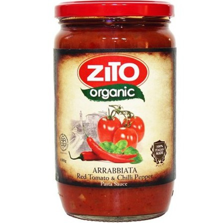 Zito pasta sauce arrabiata red tomato & chilli pepper 690g