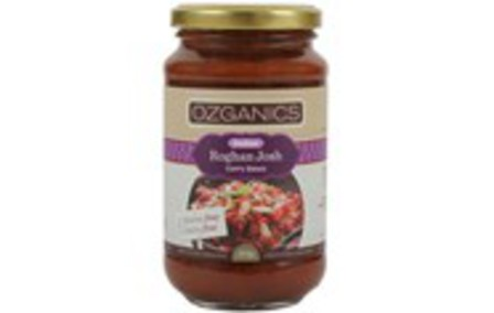 Ozganics indian roghan josh curry sauce 375g