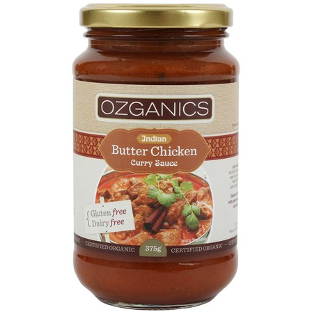 Ozganics indian butter chicken curry sauce 375g