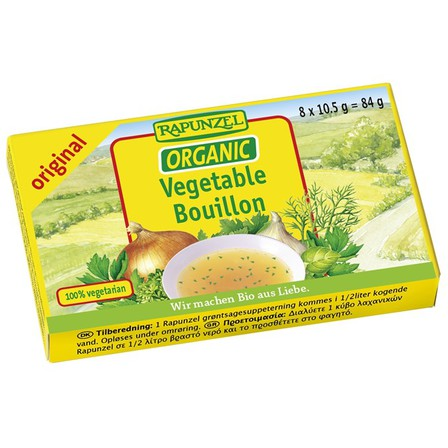 Rapunzel vegetable bullion cubes original 84g