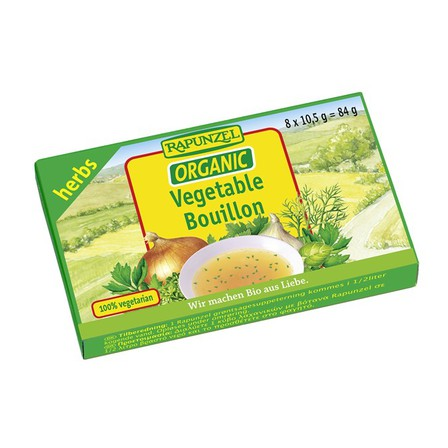 Rapunzel vegetable bullion cubes with herbs 84g