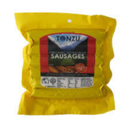 Tonzu vegetarian sausages