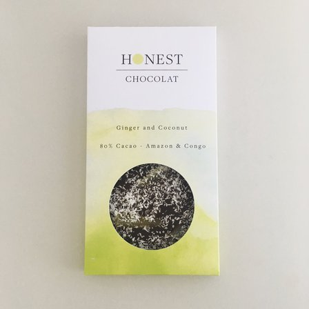 Honest Chocolat - Ginger and Coconut