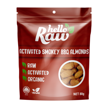 Hello Raw Activated Smokey BBQ Almonds - 80g