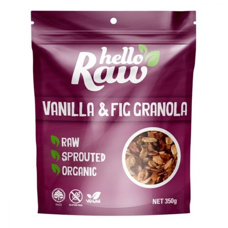 Hello Raw Vanilla & Fig Granola 350g