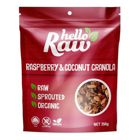 Hello Raw Raspberry & Coconut Granola 350g