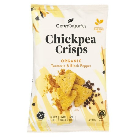 Ceres Chickpea Crisps Turmeric & Black Pepper
