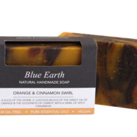 Blue Earth Soap Orange Cinnamon Swirl