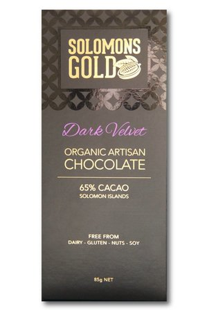 Solomon's Gold Dark Velvet Chocolate 85g