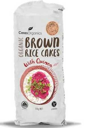 Ceres Brown Rice Cakes with Quinoa 110g