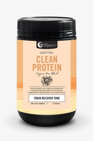 Nutra Organics Clean Protein - Cacao Choc 500g