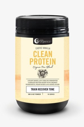 Nutra Organics Clean Protein - Exotic Vanilla 500g