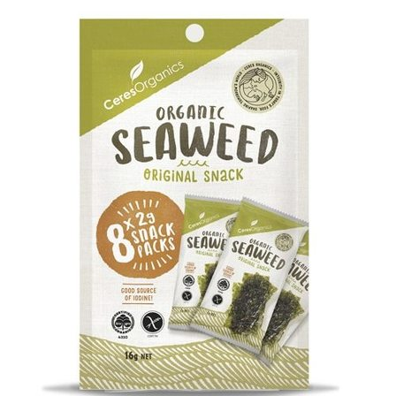 Ceres Seaweed Original Snack 8 x 2g snack packs