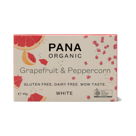 Pana White Chocolate Grapefruit & Peppercorn 45g