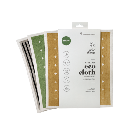 Good Change Reusable Eco Cloth Medium 3 pack